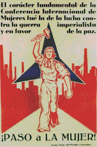 Cartel de la mujer en la guerra civil