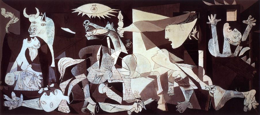 Guernica de Picasso expuesto en 1937