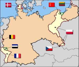 Mapa del tratado de versalles
