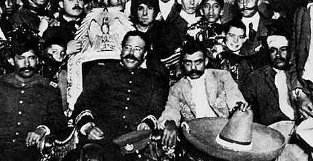 Zapata y Villa en ciudad de Mexico